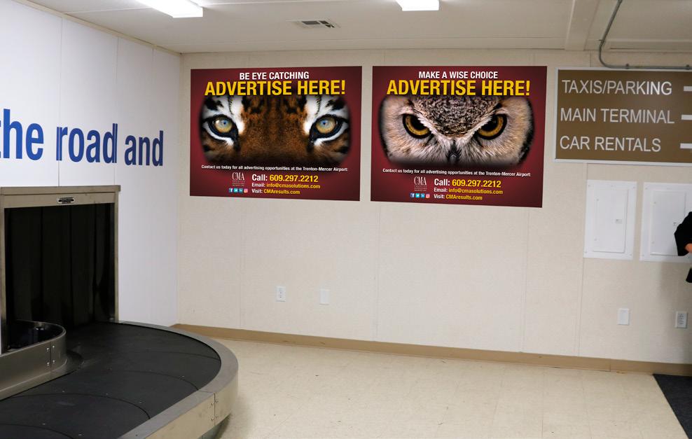 Available Advertising – Trenton-Mercer Airport